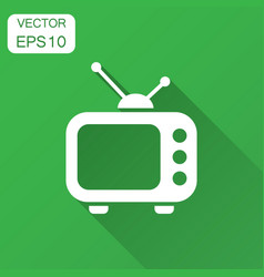 television monitor in flat style tv screen with vector image