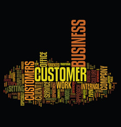 The client coworker text background word cloud vector