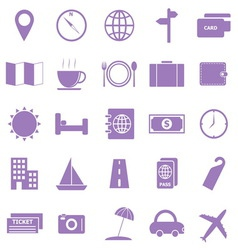 Travel color icons on white background vector image