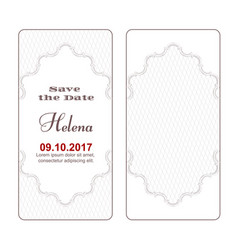 two variants of elegant white vintage banners of vector image