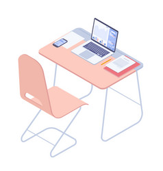 university student workplace vector image