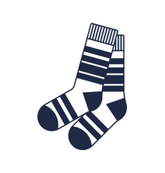 Winter wool socks isolated icon vector