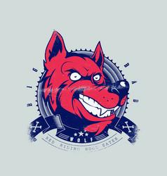 Wolf grin vector