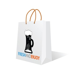 beer on the bag color vector image