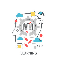 learning education modern concept vector image