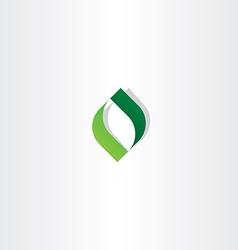 letter o green leaf logo icon element vector image vector image