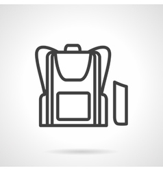 School bag simple line icon vector image vector image