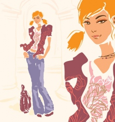 Young beauty vector
