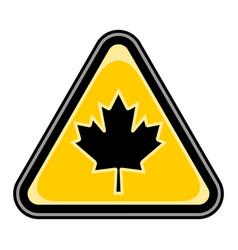 canada maple leaf sign triangular sticker vector image vector image