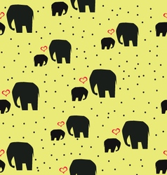 elephans on yellow background vector image vector image