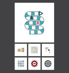 flat icon entertainment set of arrow labyrinth vector image