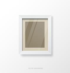 Modern white frame vector image vector image