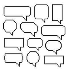 pixel bubble speech vector image vector image
