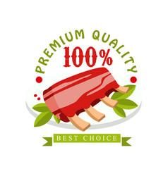 premium quality 100 percent best choice logo vector image vector image