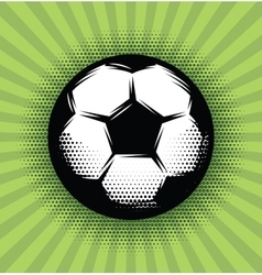 background with a soccer ball and green vector image vector image