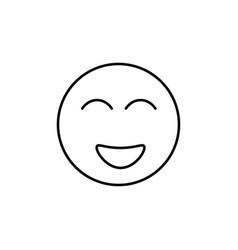 happiest emoticon vector image vector image