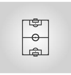 The soccer ball icon Football symbol Flat vector image