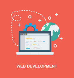 Web development concept design vector