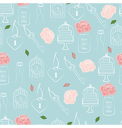 Wedding and Valentines seamless pattern vector image vector image