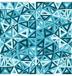 Blue abstract triangles background vector image vector image