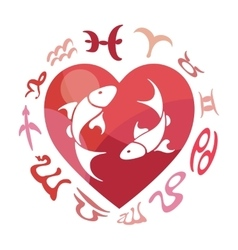 Pisces zodiac sign vector image vector image