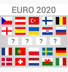 2020 european football championship composition vector image