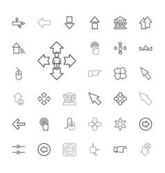 33 cursor icons vector