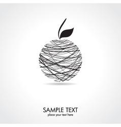 Abstract apple card vector