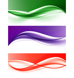 abstract elegant light wavy lines set vector image