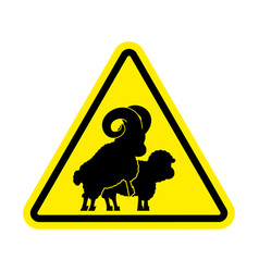 attention sheep sex warning ram intercourse vector image