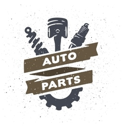Auto parts hand drawn vector