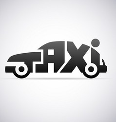 Automobile taxi logo design template vector image