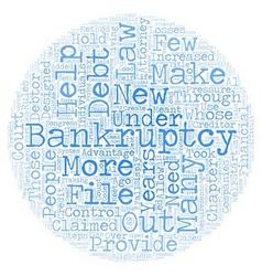 Bankruptcy Law Changes Designed To Hold Debtors vector