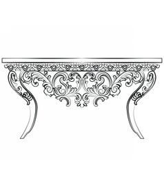 Baroque Luxury style furniture vector image