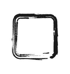 Black brush stroke in the form of square vector