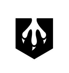 Black claw logo design vector