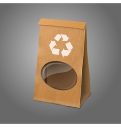 Blank craft realistic paper packaging bag vector