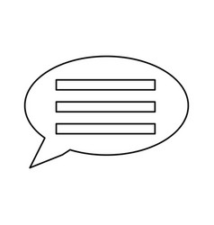 bubble chat symbol vector image