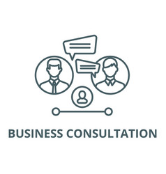 business consultation line icon business vector image