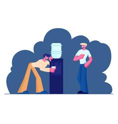 business people break at work people colleagues vector image