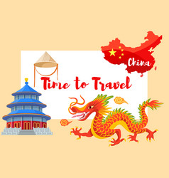 chinese culture in asia vector image