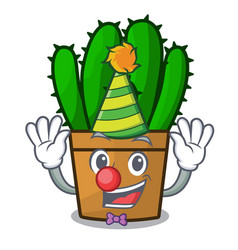 Clown the beautiful spurge cactus plant cartoon vector