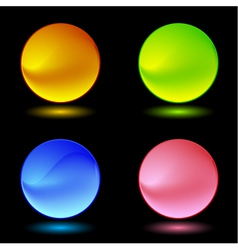 Color ring buttons vector