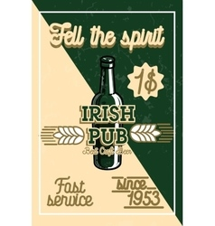 Color vintage irish pub banner vector image vector image