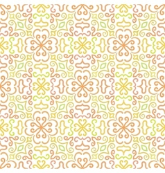 Colorful graphic flower pattern on white vector image