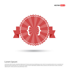 Curly bracket icon - red ribbon banner vector