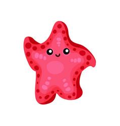 cute funny cartoon starfish character vector image