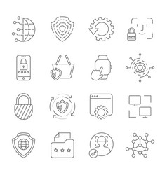 Digital technology security protection vector