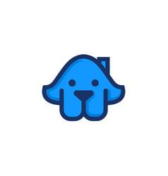 dog house logo template vector image