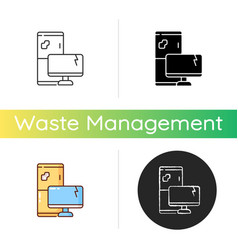 Electronic waste icon vector